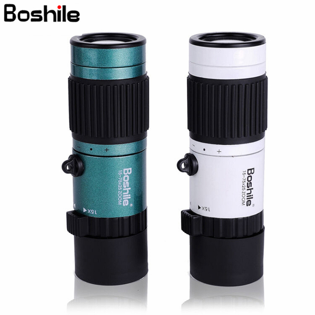 Boshile Monocular 15 75x25 HD High Power Telescope For Bird Watching Camping Monocular binoculars High quality Clear Vision
