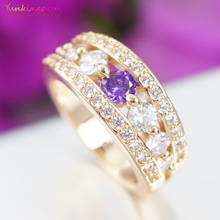 Jewelry Accessories - Fashion Jewelry - Purple CubicZirconia Engagement Rings For Women Fashionr Wedding Rings Austrian Crystals Jewelry K2070
