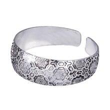 BR107 Exotic Asian Flower Tibetan Silver vintage retro Fashion Bangle Bracelet gift  for her