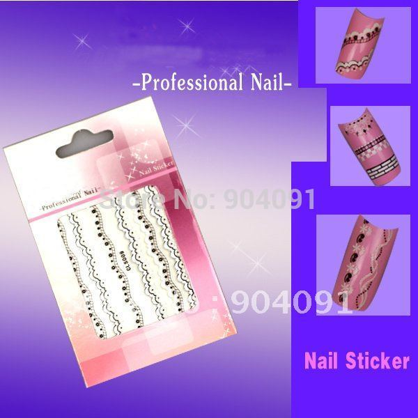 BeautyNailArt 90 HOJA/LOT Estilo Japonés 3D Nail Art Sticker Decal Color Pegatinas de Uñas de Encaje Al Por Mayor
