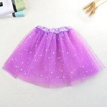 Блеск серебра юбка-пачка юбка для танцев Детская юбка принцессы крошечные Shining Star Точка украшения юбка-пачка