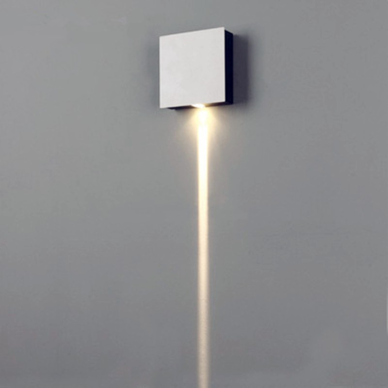 1 Narrow Beam Led Wall Sconce Effect Light Rectangle 90 90