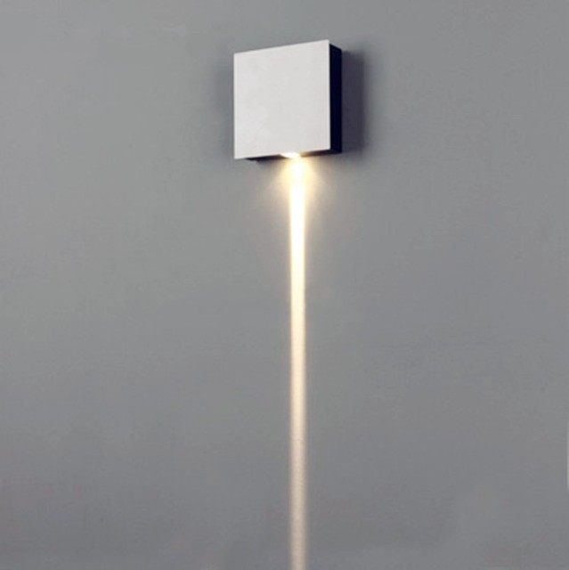 1 narrow beam led wall sconce effect light rectangle 909045mm aluminum industrial