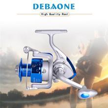 DEBAONE Spinning Reel 8 Bearing Plastics Spool Spinning Wheel Front Drag Fishing Reel Silver Blue цена