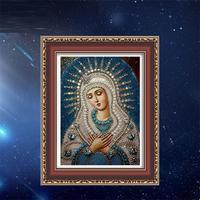 Round Diamond Embroidered The New Living Room 5D Diamond Painting Religious Character Christian Madonna Custom Diamond