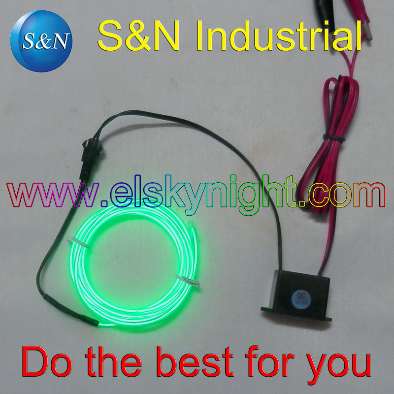 DC12V El Inverter/controller/driver Waterproof +1 Meter Green Diameter 2.3MM El Wire/strip Free Shipping