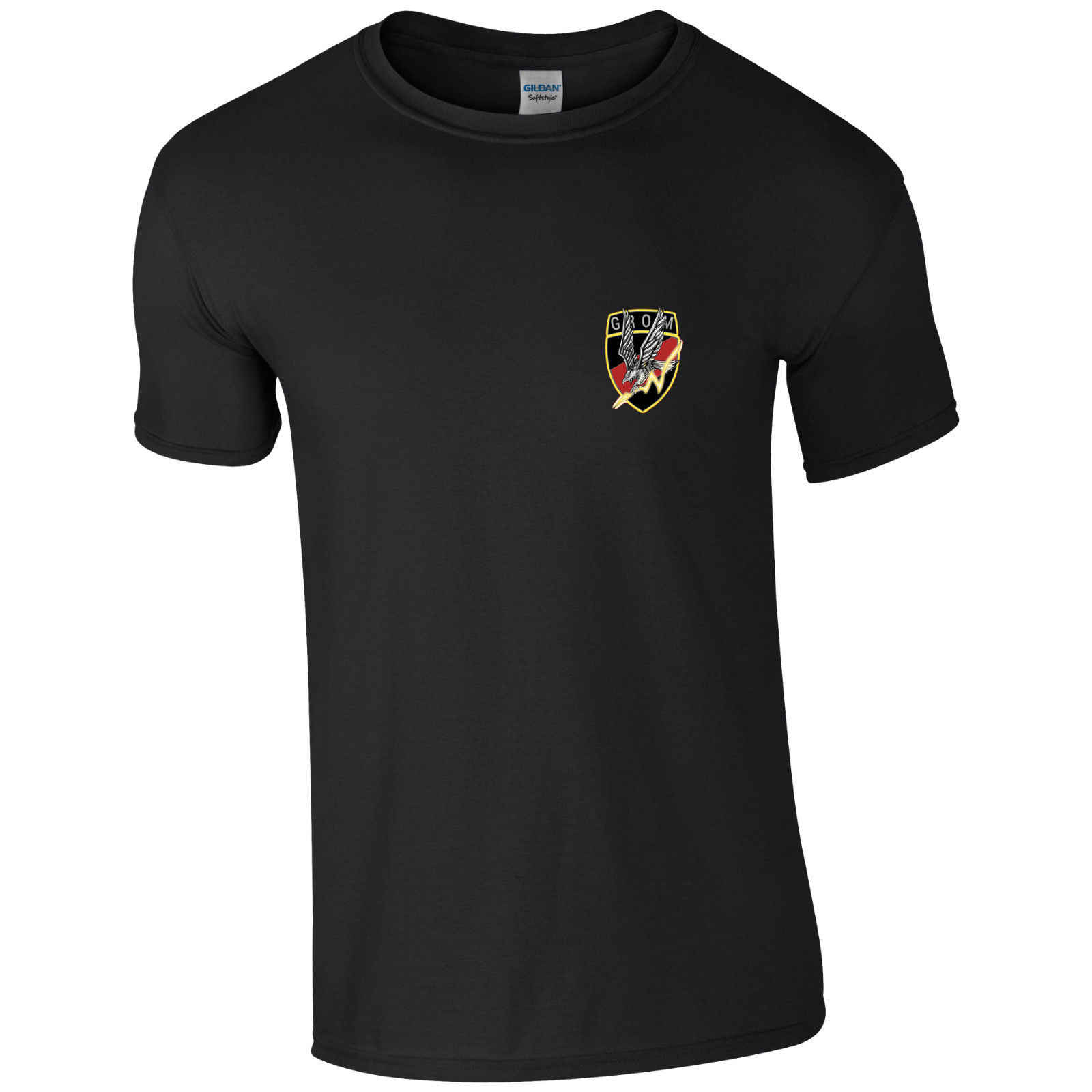 Polonia Fuerzas Especiales GROM polaco hombres algodón camiseta 2018 verano nuevo Casual algodón Top Tee negro