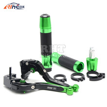 Motorcycle CNC Adjustable Folding Extendable Brake Clutch Levers & Handlebar Handle Grips Covers For KAWASAKI Z1000 16 15 14 13
