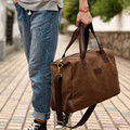 Vintage Canvas + Leather Men Fashion Travel Bags Luggage Bag Men Duffel Bags Weekend Bag Overnight Tote Large Handbag Men
