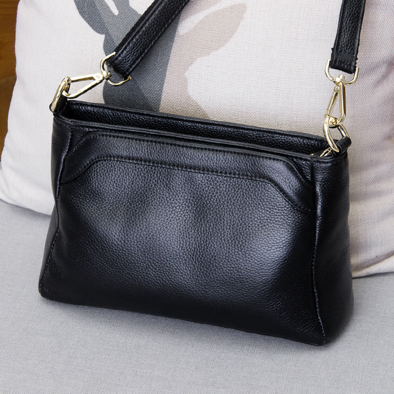 #200-L 2018 New Style Genuine leather small messenger bags for woman ladies shoulder bags new handbags female cowhide shopping p women genuine leather handbags ladies personality new head layer cowhide shoulder messenger bags hand rub color female handbags