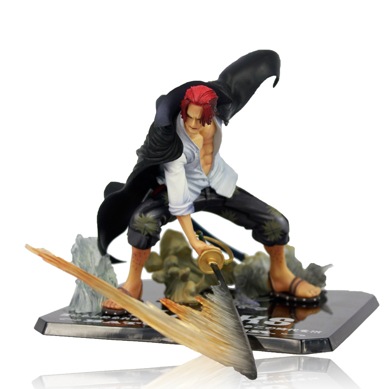 """Free Shipping Cool 7.5"""" One Piece Yonko """"Red-Haired"""" Shanks Battle Ver. Boxed PVC Action Figure Collection Model Toy OPFG335"""