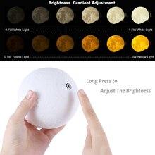 3D принт, лунный светильник, домашний декор, подарок для маленького ребенка, новинка, светодиодный ночник, лунный светильник, 16 цветов, сменный пульт дистанционного управления, для спальни