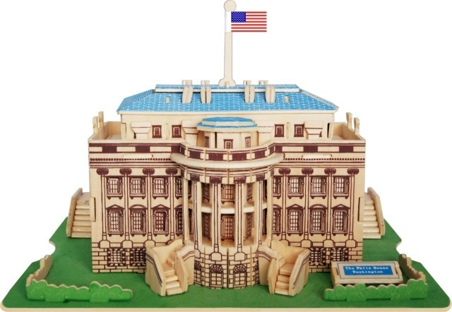 3D three-dimensional jigsaw puzzle wooden toy 3D building simulation model stereo DIY White House