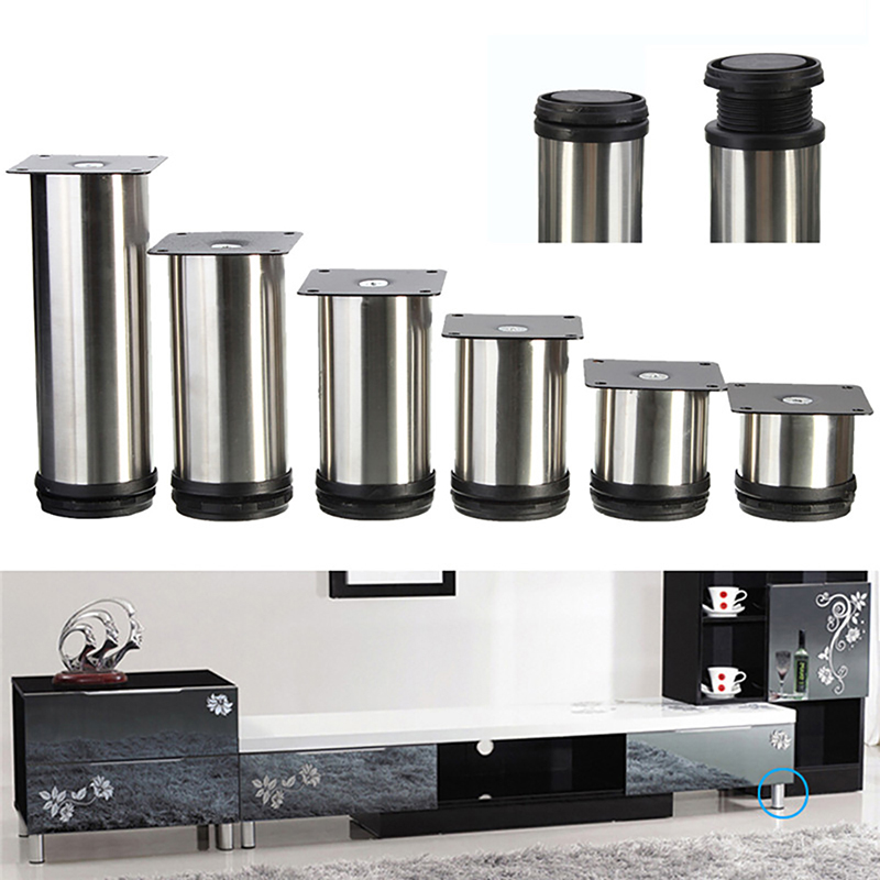 stainless steel legs for kitchen cabinets 4 pcs cabinet metal legs adjustable stainless steel 26643