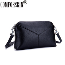COMFORSKIN High Quality Womens Leather Clutch Bag New Arrivals Ladies Messenger Genuine Fashion Soft Cross-body