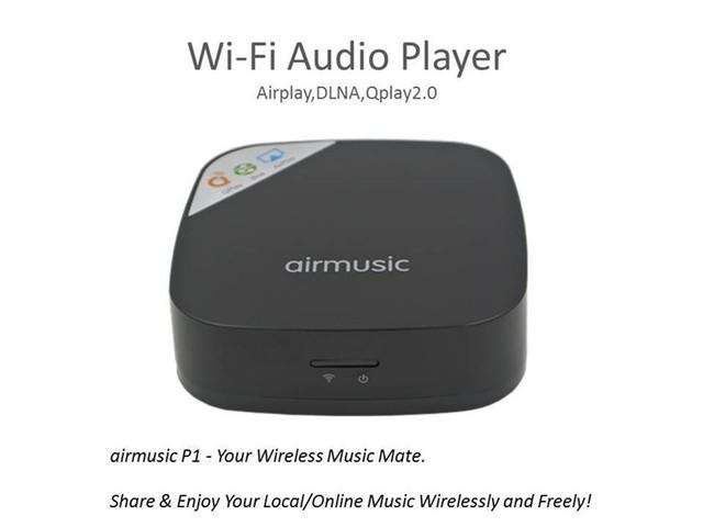 Novo AirMusic Wi-fi DLNA Qplay Music Audio Receiver/Jogador de Streaming De Rádio Para IOS Android do Windows Frete Grátis 12002157