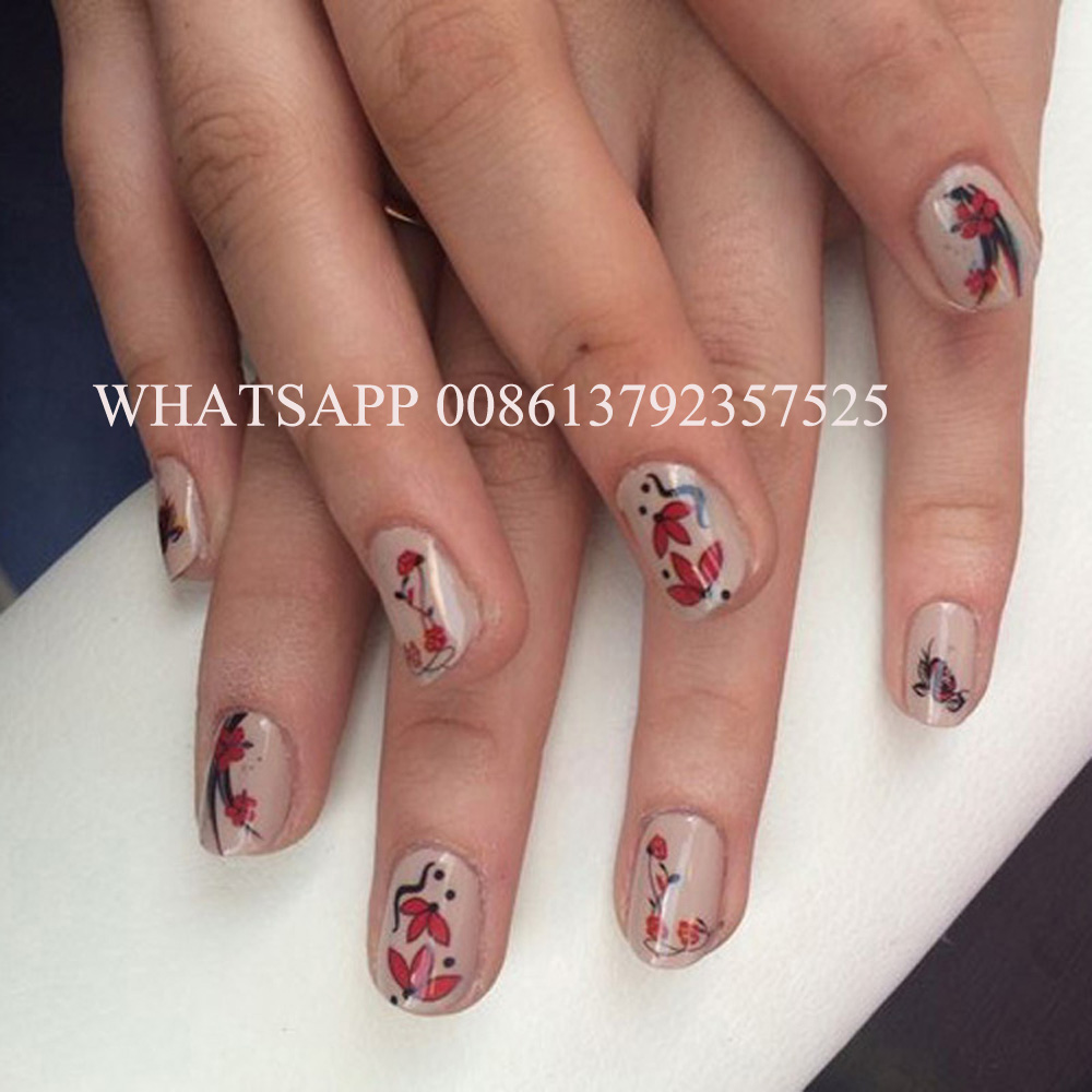 nail stamp machine printing designs and images on nails on ...