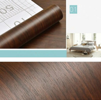2m Self adhesive Wood Grain Contact Paper Waterproof Wallpaper PVC Vinyl Furniture Wardrobe Door Stickers Wall Papers Home Decor
