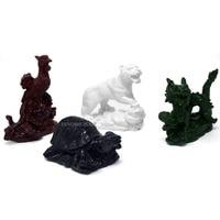 Feng Shui Cuatro Animales Celestiales Phoenix Dragón Tortuga Estatua Tigre SKU: D1010-1