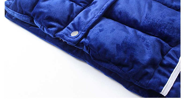 Chaqueta de invierno de estilo largo con capucha de piel 3 A 12Y niños niñas abrigo de algodón acolchado tela de terciopelo niños niñas invierno Parkas