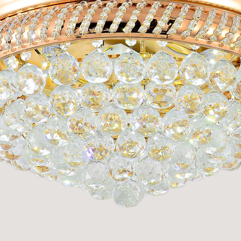 23.8KG Art Decorative CRYSTAL Ceiling Fan with light Y4216 Retractable Blades Fans Hidden Blades Super Quiet body material IRON