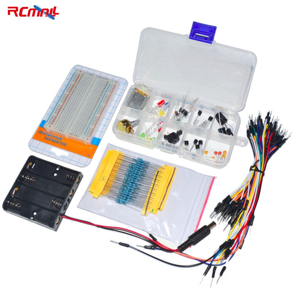 Rcmall Electronic Fans Kit Breadboard Cable Resistor Capacitor Led Potentiometer For Arduino Fz0869-diymall Diymall Digital Gear Bags Accessories & Parts
