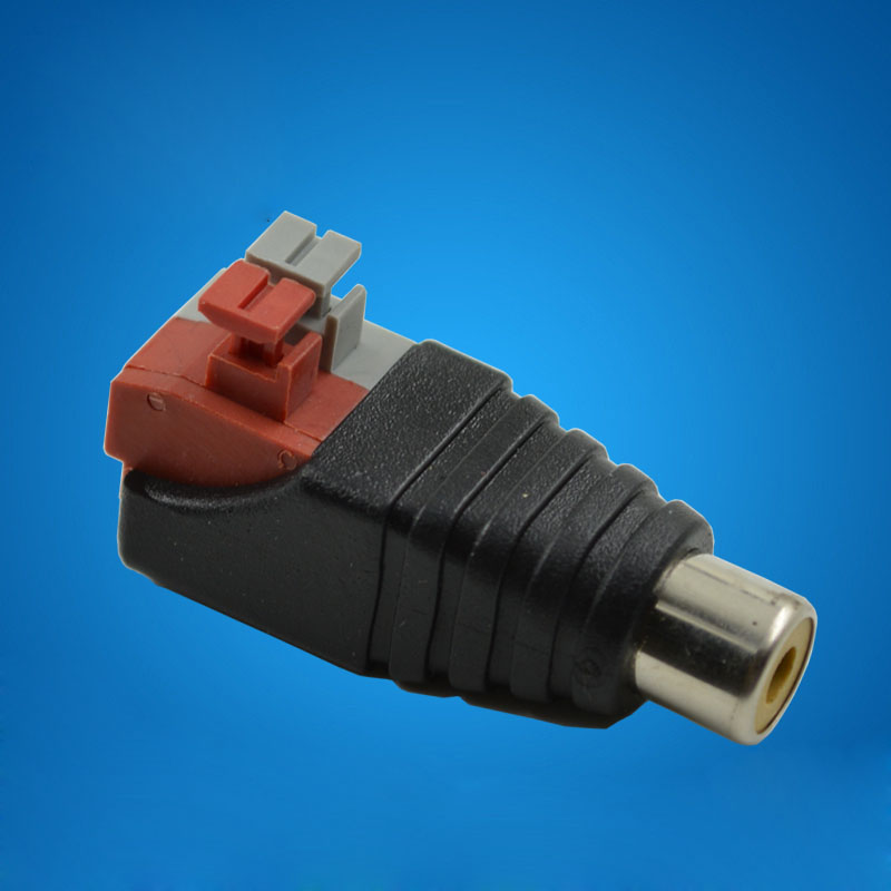 10pcs RCA/AV Lotus Connector Plug Press Type,Female Audio Connector,Monitor Camera Accessories Security Special