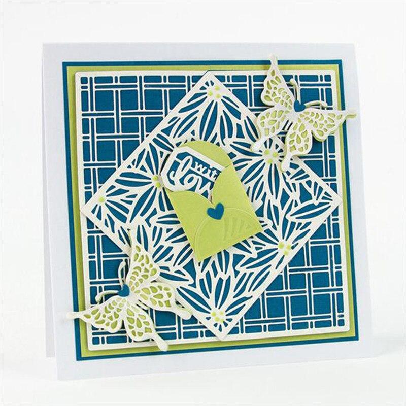 YaMinSanNiO Creative DIY Dies Box Gift Metal Cutting Craft Frame Die Cut New 2019 Scrapbooking Card Making Album Paper Stencil in Cutting Dies from Home Garden