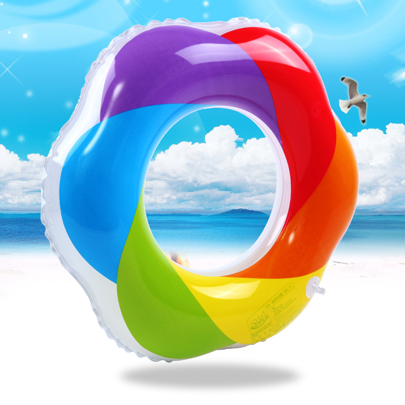 1Pcs Pool Float Lovely Swimming Ring Adult/Child Thicken Swimming Ring Floating Rings Inflatable Toy Life Buoy 60~90cm PVC 05