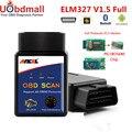 Alta Qualidade PIC 25K80 Ancel ELM327 V1.5 OBD Ferramenta De Diagnóstico Do Carro Leitor de Código de ELM327 Adaptador Bluetooth V1.5 ELM 327
