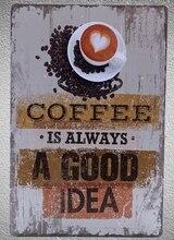 1 pc Italian Coffee Espresso cappuccino Doppio Latte Americano Tin Plate Sign wall man cave Decoration Art Poster metal vintage