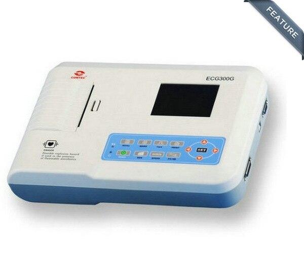 ECG300G 3-Channel 12-Lead Hand-held Digital ECG Machine - Contec Flagship Store(Beijing store)