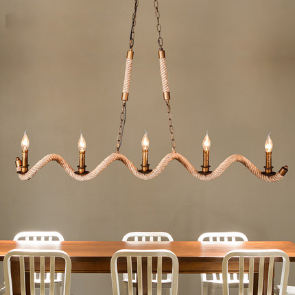 Vintage Hemp Rope Candle Pendant Lights Fixture American Country Droplights Home Indoor Dining Room Restaurant Cafes Pub Lamps american style pendant lights personalized artistic creativity restaurant bar hemp rope pendant light antique dining room set