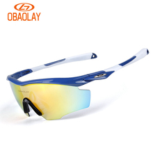 3bdc201576 OBAOLAY 5 Lens Cycling Glasses Road Riding Polarized Sunglasses Night  Version Fishing Outdoor MTB Bike Goggles Bicycle Eyewear