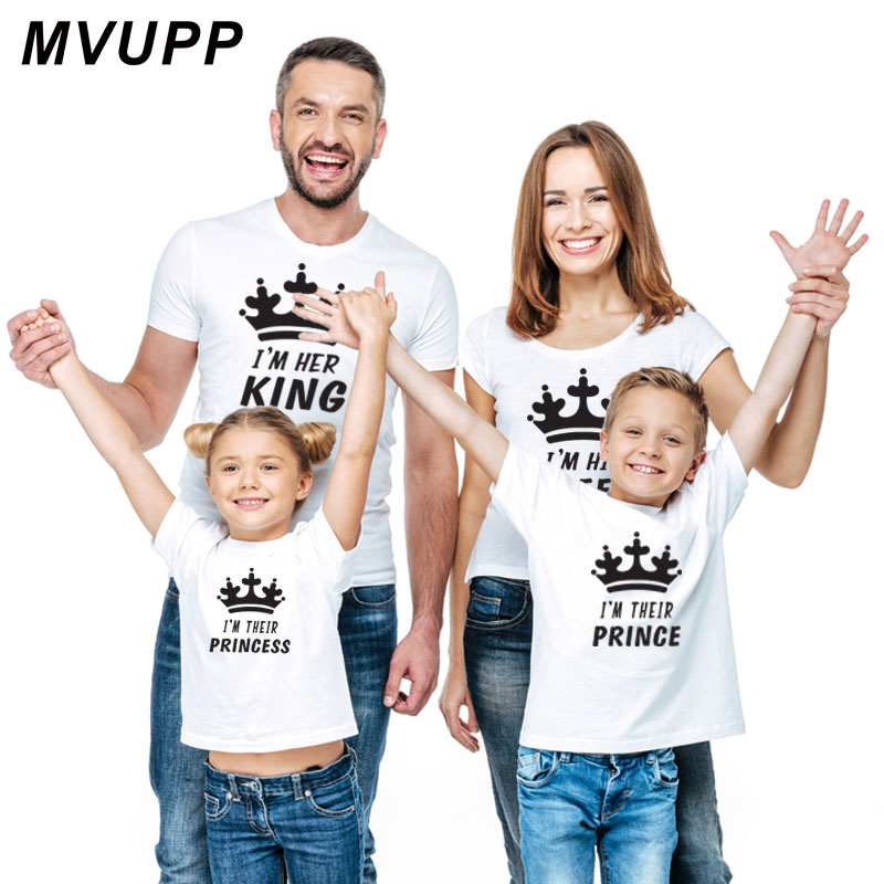 3636c7e5 Detail Feedback Questions about family matching clothes daddy mommy and me  tshirt look father son mother daughter outfits clothing mom baby girl crown  ...