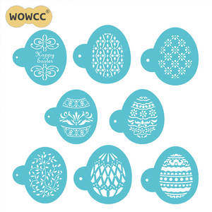Easter Eggs Shape Faberge Pattern Cookie Stencil Baking Fondant Tools for Cakes Celebration Tools Set Stencil CAKE Decorating