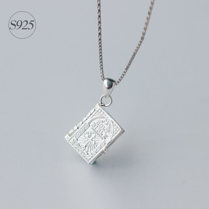 Image 2 - 1pc 925 Sterling Silver Holly Bible Necklaces & Pendants