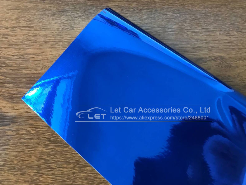 Image 4 - car styling High stretchable Waterproof UV Protected Blue Chrome Mirror Vinyl Wrap Sheet Roll Film Car Sticker Decal Sheet-in Car Stickers from Automobiles & Motorcycles