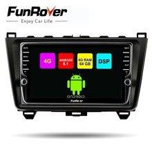 Lecteur dvd de voiture Funrover 8 core android 8.1 2 din pour Mazda 6 2008 2009-2014 2015 radio gps navigation 64G DSP emplacement pour carte SIM BT