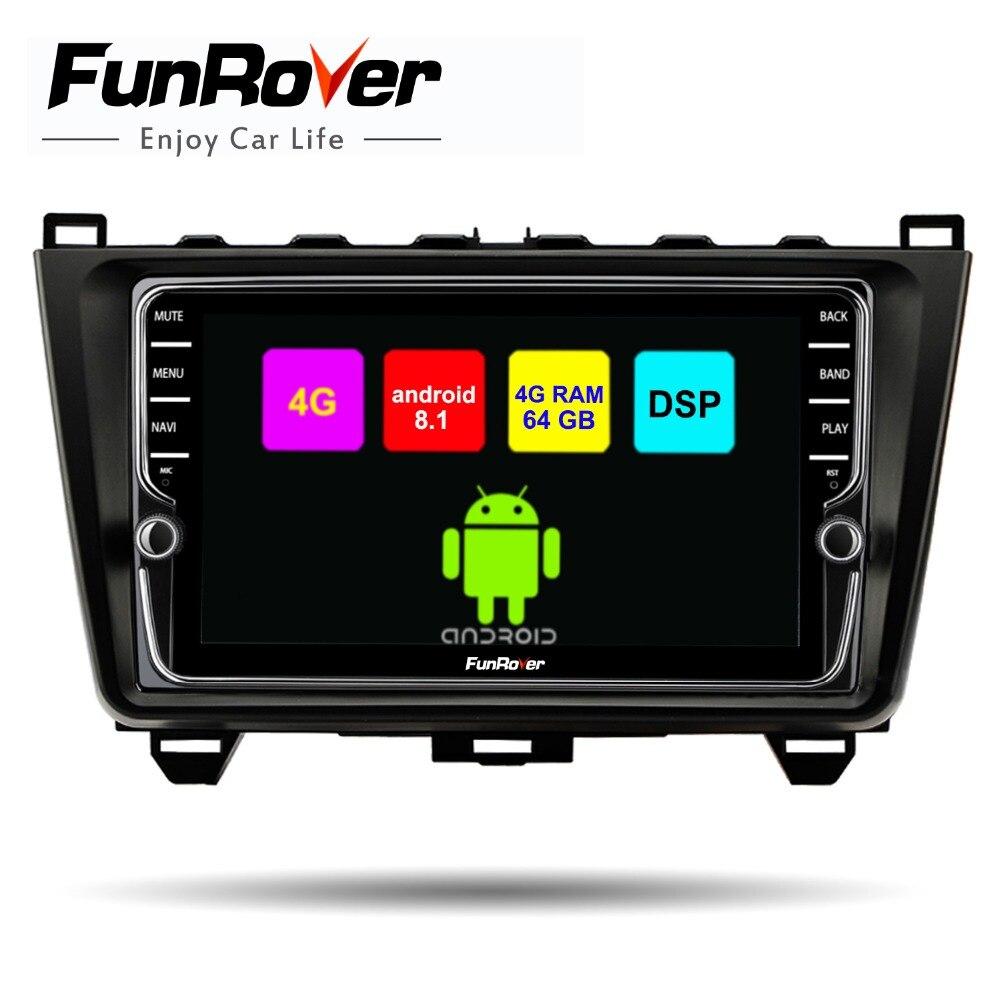 Funrover 8 core android 8.1 car multimedia player Per Mazda 6 2008-15 2 din car dvd gps radio di navigazione stereo 4G + 64G DSP WIFI