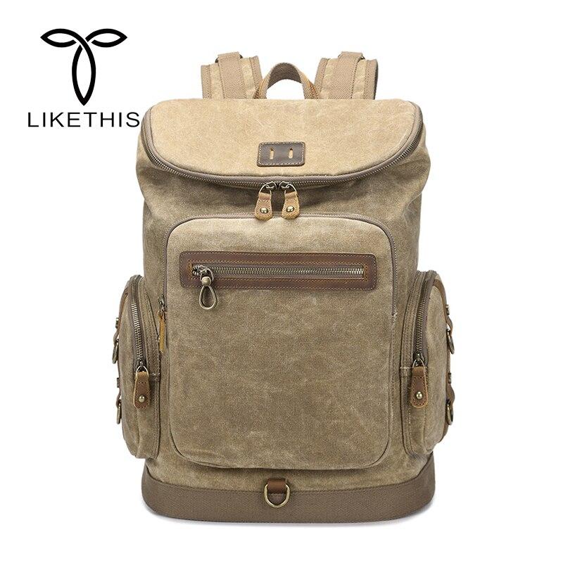 цены на Vintage Waterproof Men Travel Backpack Crazy Horse Leather Large Capacity High Quality Laptop Bags Boys Male Schoolbags School