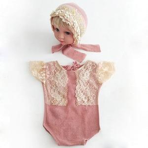 Image 5 - Ylsteed 2Pcs סט אבזרי יילוד תינוקות ירי תלבושות תינוק ילד ילדה תחרה בגדי תינוק אבזרי צילום יילוד מקלחת מתנה
