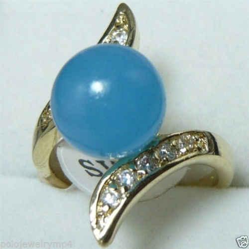 ร้อนขายโนเบิล-จัดส่งฟรี>>>@@ราคาขายส่ง16new ^^^^ใหม่สีฟ้าหยกพลอยสีม่วงคริสตัลขนาดแหวน: 7-9