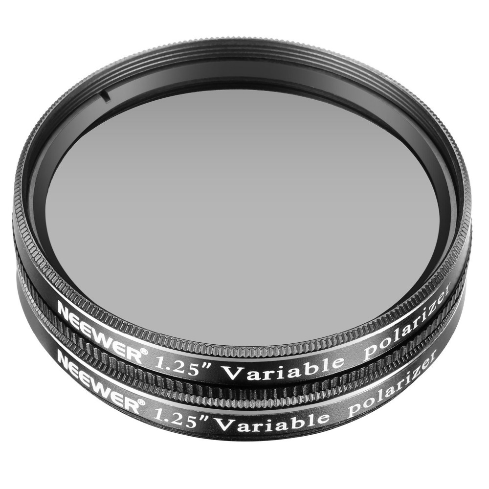 Neewer 1.25 inches 2 Pcs Variable Circular Polarizer CPL Lens Filter for Telescope Eyepieces Diming the view/Increasing Contrast цена и фото