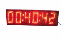 Free shipping( 5inch 6digits hours,minutes and seconds countdown LED clockHST6 5R)
