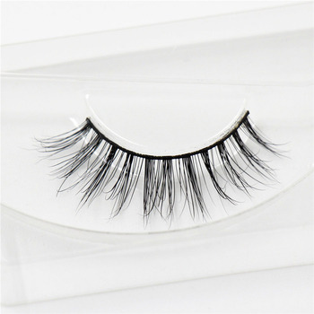 1 pair100% handmade real mink fur long false eyelash 3D strip mink lashes thick fake faux eyelashes Makeup beauty tool A16
