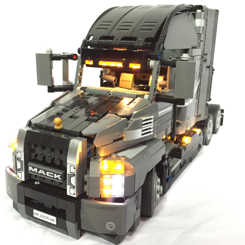 LED light up ชุดสำหรับ lego Technic Series 42078 และ 20076 Mack AnthBig รถบรรทุกชุด (รถไม่รวม)-ใน บล็อก จาก ของเล่นและงานอดิเรก บน   1