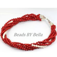 African Wedding Nigerian Coral Beads Necklace 18K Gold Plated Coral Beads Jewelry Indian Bridal Necklace Free Shipping ABL027