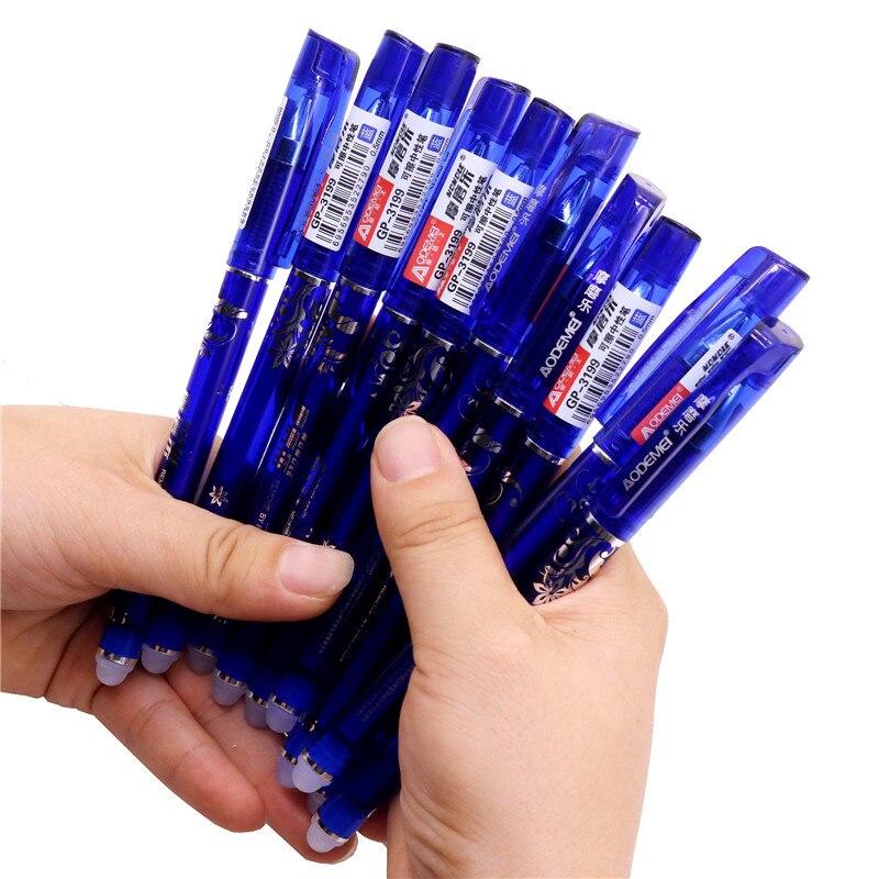 144 Pcs จำนวนมากขายส่ง Erasable ปากกาเครื่องเขียนนักเรียน Erasable Gel ปากกาการเขียนได้อย่างคล่องแคล่วไม่ Miss ผ่าน-ใน ปากกาแบนเนอร์ จาก อุปกรณ์ออฟฟิศและการเรียน บน   2