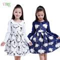 New Girls Dress Teenagers Baby Girls Princess Dress Spring Autumn Kids Children Long Sleeve Wedding Party Bow Dress 4-12 Year